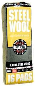 Homax Group 106601-06 Steel Wool #000 Polish Gr 16pk