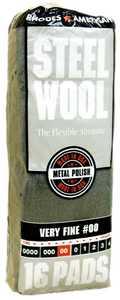 Homax Group 106602-06 Steel Wool #00 Metal Finish 16