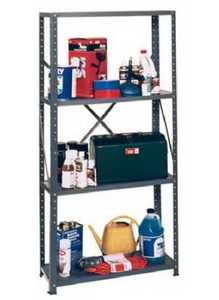 Edsal Hom-e-quip VL430 4 Shelf Steel Shelf Unit 12x30x58