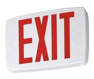 Lithonia Lighting LQMSW3R120277 Led Exit Top-End-Or Back Mount White Face Red Letter 120/277v