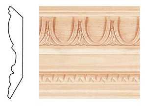 House of Fara 58808 Crown Hardwood Embossed 3/4 x 4-1/2 x 8 ft