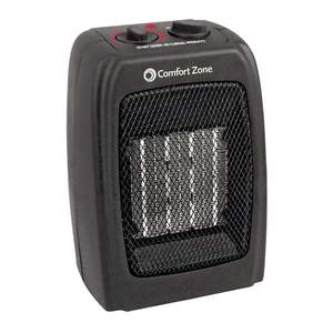 Comfort Zone CZ442 Black Ceramic Electric Portable Fan-Forced Heater
