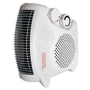 Comfort Zone CZ30 White Radiant Electric Wire Element Fan-Forced Heater