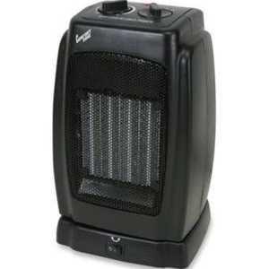 Comfort Zone CZ448 Black Ceramic Electric Portable Fan-Forced Heater