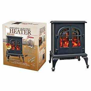 Comfort Zone CZFP5 Black Ceramic Electric Fireplace Stove Fan-Forced Heater