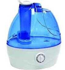 Comfort Zone CZHD22 Ultrasonic Cool Mist Filter Free Humidifier