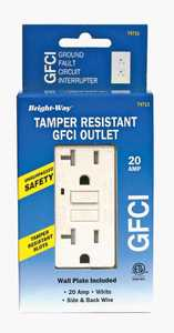 Howard Berger 74711 Tamper Resistant GFCI 20amp White Safety Outlet