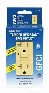 Howard Berger 74712 Tamper Resistant GFCI 20amp Ivory Safety Outlet