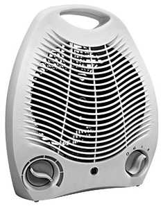 Comfort Zone CZ40 White Radiant Electric Wire Element Fan-Forced Heater