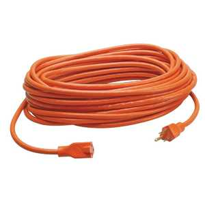 Howard Berger R2600 100 ft Orange Heavy Duty Extension Cord 16 Gauge Grounded Outdoor & Indoor, #r2600