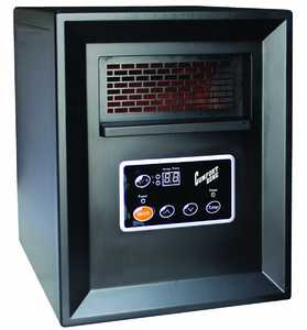 Comfort Zone CZ2011P Black Quartz Infrared Electric Cabinet Heater
