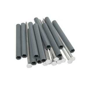 Amerimax 33044 7 In White Galvanized Spike And 5 In White Galvanized Ferrule For K Style Roof Drainage System 10 Pack