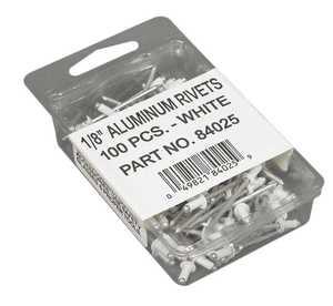Amerimax 84025 1/8 in White Aluminum Rivet Pack Of 100