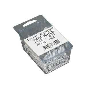 Amerimax 77090PK 1-1/4 In White Aluminum Trim Nails 1/4#