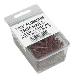 Amerimax 7709019PK 1-1/4 in Brown Aluminum Trim Nails ¼ Lb