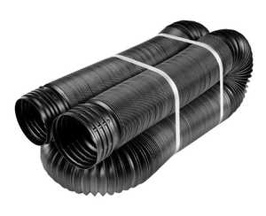 Amerimax 52001 4 In X 50 Ft Black Solid Flex Drain Pipe