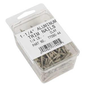 Amerimax 7709044 1-1/4-Inch Aluminum Trim Nails In Clay 1/4-Lb