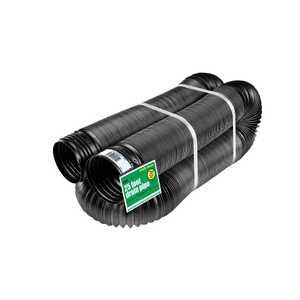 Amerimax 51110 4 In X 25 Ft Black Solid Flex Drain Pipe