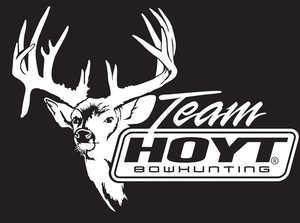 Hoyt Archery 933973 Hoyt Archery Decal Trash Buck Team Hoyt Bowhunter 9 in X 6.5 in White Vinyl #933973