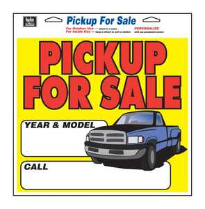 Hy-Ko Products 22602 Sign For Sale Pickup W/Opt