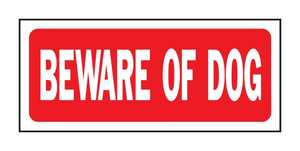 Hy-Ko Products 23001 Sign Beware Of The Dog 6x14