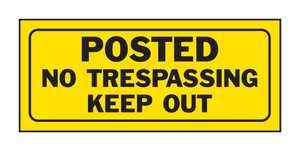 Hy-Ko Products 23004 Sign No Trespassing Keep Out