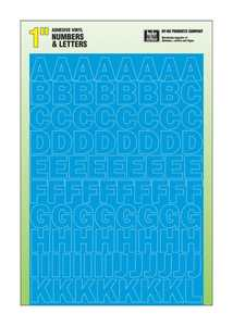 Hy-Ko Products 30023 Number & Letter Set Silhouette Blue 1 in