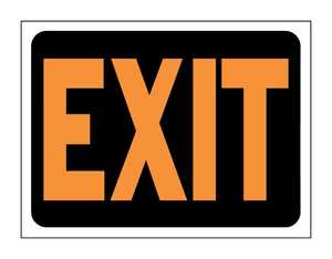 Hy-Ko Products 3003 Sign Exit 9x12