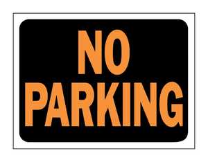 Hy-Ko Products 3012 Sign No Parking 9x12