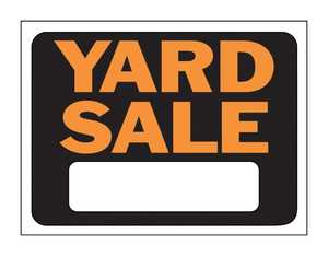 Hy-ko Products 3033 Sign Yard Orange/Blk Poly 12x9