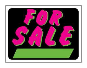 Hy-Ko Products 3041 Sign For Sale Fluorescent 9x12