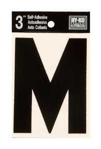 Hy-Ko Products 30423 Black Vinyl Die Cut Letter 3 in M