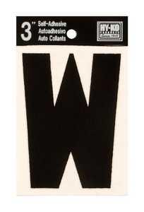 Hy-Ko Products 30433 Black Vinyl Die Cut Letter 3 in W
