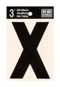 Hy-Ko Products 30434 Black Vinyl Die Cut Letter 3 in X