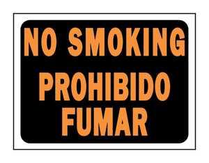 Hy-Ko Products 3069 English/Spanish Sign No Smoking