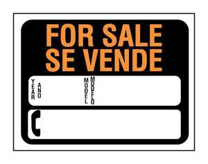 Hy-Ko Products 3072 English/Spanish Sign For Sale Ph#