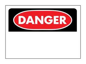 Hy-Ko Products 523 Sign Danger Blank 10x14