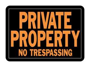 Hy-Ko Products 848 Sign Private Prop No Trespass