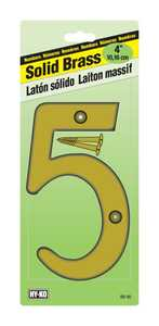 Hy-Ko Products BR-90/5 Solid Brass Number 4 in 5