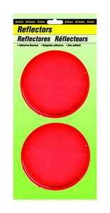 Hy-Ko Products CDRF-4R Reflector Red 31/4 Adh Bk 2pk