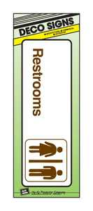 Hy-Ko Products D-11 Sign Restroom 5x7