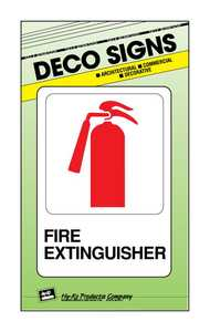 Hy-Ko Products D-16 Sign Fire Extinguisher 5x7