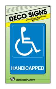 Hy-Ko Products D-17 Sign Handicapped 5x7