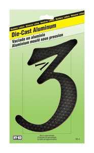 Hy-Ko Products DC-5/3 Die Cast Number Zc Black 41/2 3