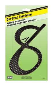 Hy-Ko Products DC-5/8 Die Cast Number Zc Black 41/2 8