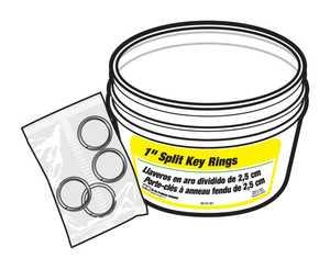 Hy-ko Products KB105-BKT Key Ring 1 In Split Bucket