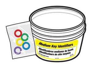 Hy-Ko Products KB130-BKT Id Key Ring Medium/Bucket