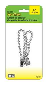 Hy-Ko Products KC192 Chain Beaded 6 In 2/Cd