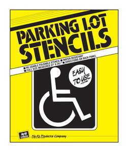 Hy-Ko Products PLS-10 Stencil Handicap Parking Lot