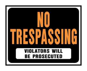 Hy-Ko Products SP-104 Sign No Trespassing 15x19